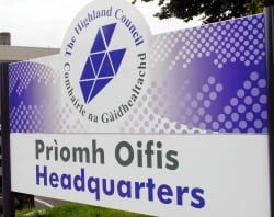 Highland Council Headquarters sign