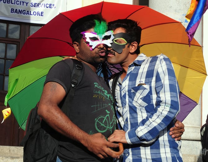 LGBT community rally in Bangalore