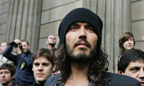 Russell Brand at a G20 protest in London.
