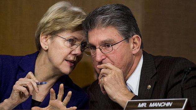 Sen. Elizabeth Warren and Joe Manchin