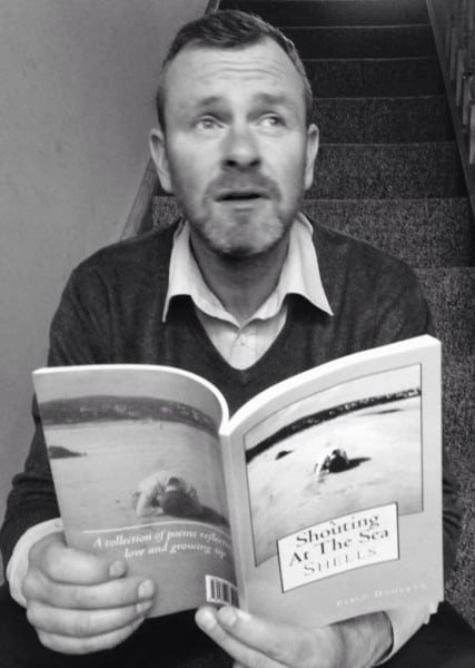 Pablo Doherty, whose book 'Shouting at the Sea' was published on Amazon last week.