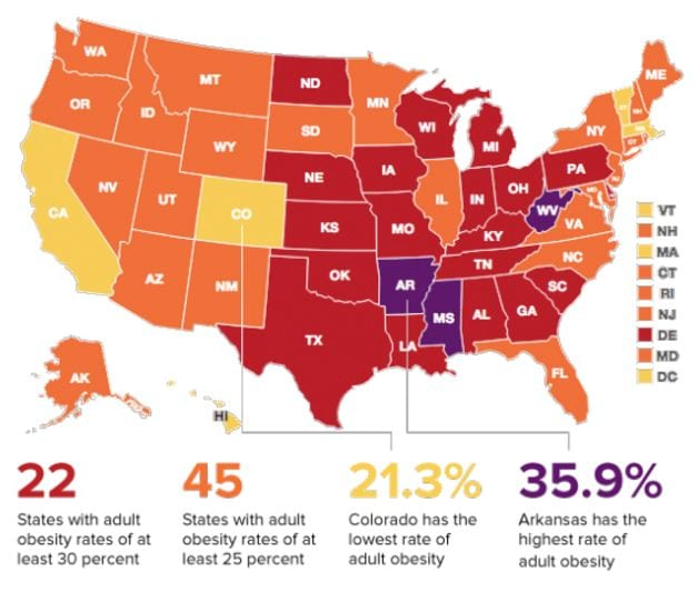 the contribution of the fast food industry to the rise of obesity in the united states Adult obesity in the united states strong state policies play a key role in improving access to healthy food and increasing physical activity  fast facts.